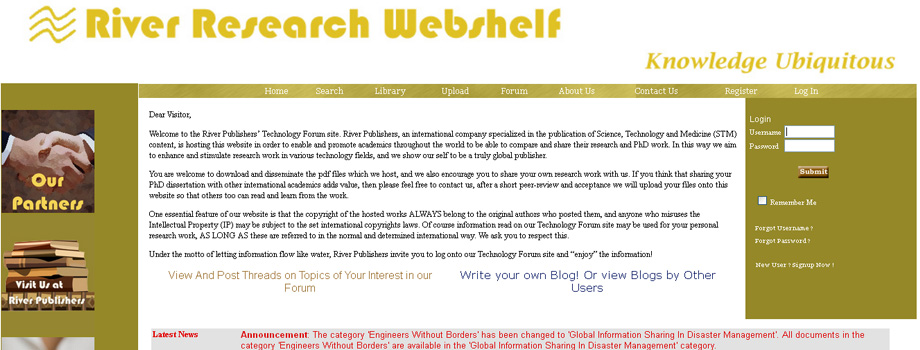 River Research Webshelf